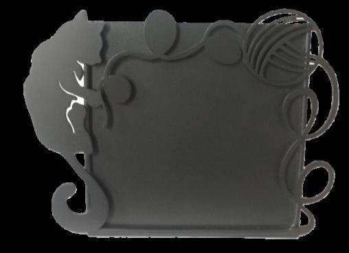 Porta Retrato Gato jugando con  Estambre PRG251