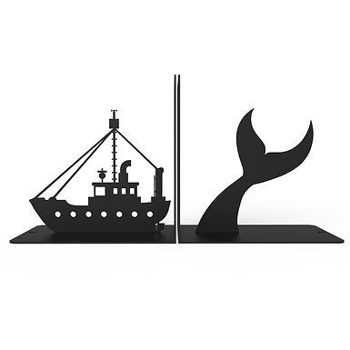 Sujeta Libros Barco y Ballena