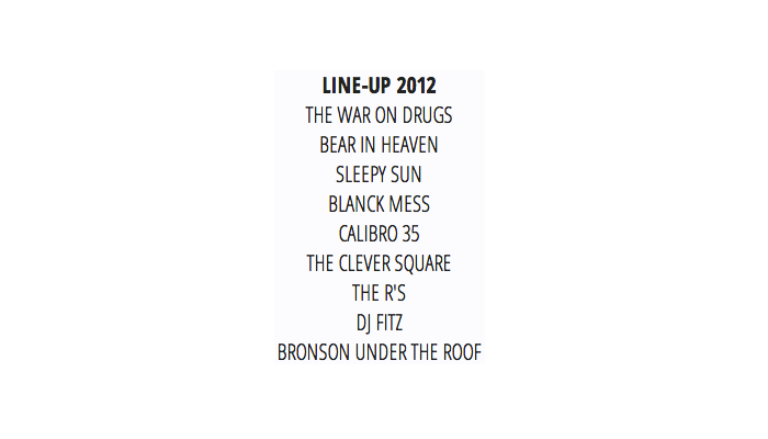 BEACHES BREW LINE-UP 2012