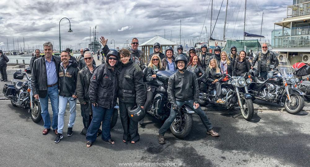 Team Bonding Harley Ride