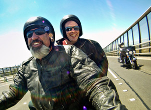 Harley Ride across Westgate Bridge