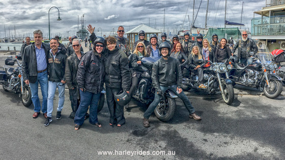 Nothing Beats Riding in a Group of Harley Davidsons