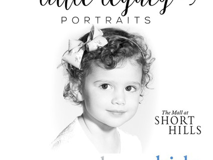 Little Legacy Pop-Up Store in Pottery Barn Kids at Short Hills Mall Sunday Nov 12th, 2017!