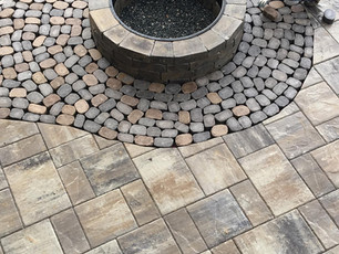 Outdoor Fireplace Person, Vance County NC