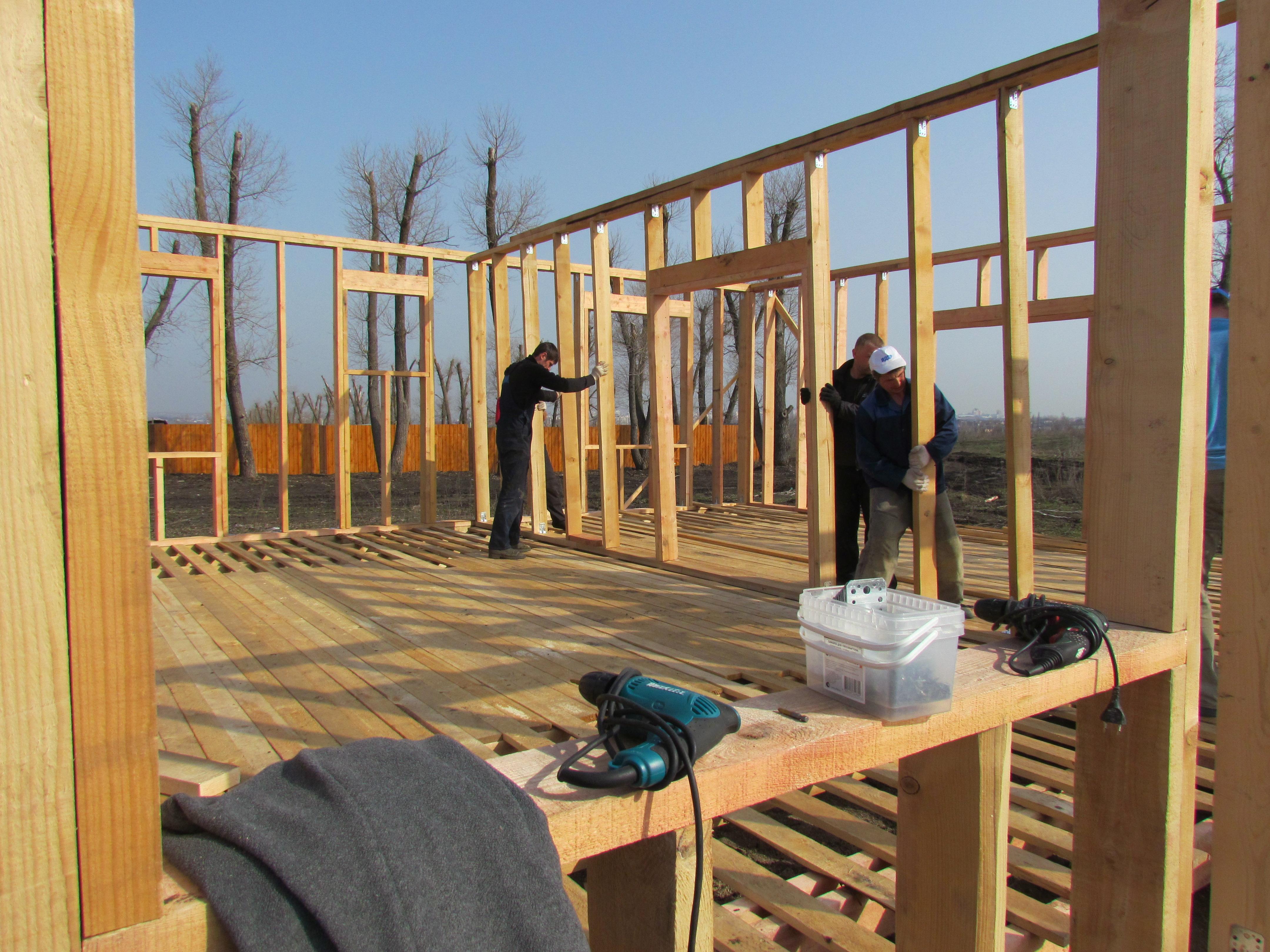 Строительство дома п. Дубовое