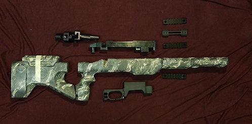 SURPLUS M.A.C.S. parts kit. - Black/Lt.Tan./OD Marble - Short Action I.M.B + NV