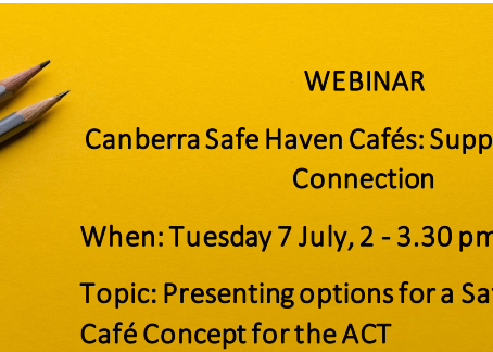 Safe Haven Cafes in the ACT - Webinar