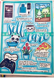 Self Care  - Image care of Instagram: Rhioillustrates