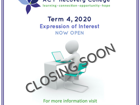 Term 4 Course Offerings - Closing Soon