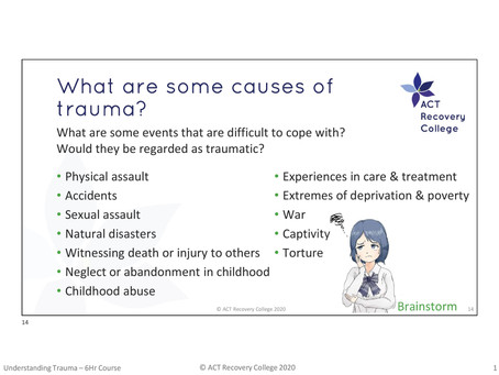 Trauma Awareness and Understanding