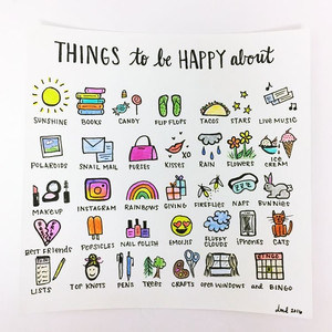 Things to be happy about - Image Credit: Pinterest Positively Present