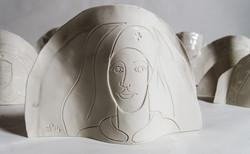 Infirmière Porcelaine Eric Plateau