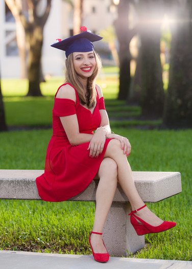 FAU Graduate Girl Portrait