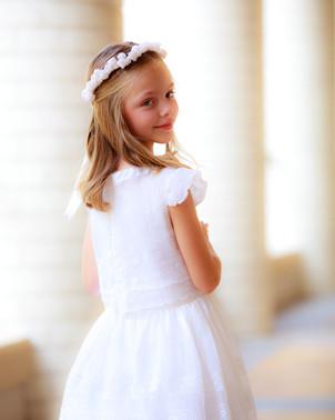 Girl Communion Portrait