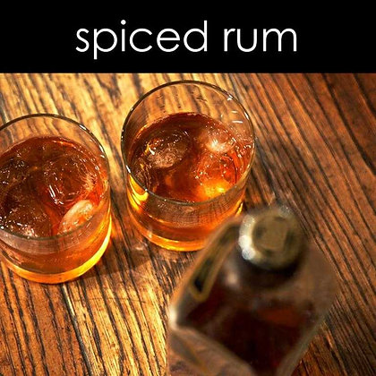 Spiced Rum Candle - 8 oz White Tumbler