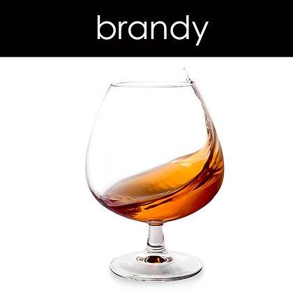 Brandy Candle - 8 oz White Tumbler