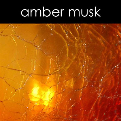 Amber Musk Candle - 8 oz White Tumbler