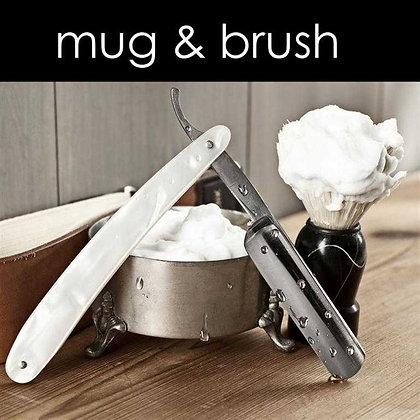 Mug & Brush Candle - 8 oz White Tumbler