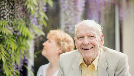 Elderly man with his Live-in Carer