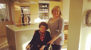 Live-in carer and her client celebrate 7 years together living in Hampshire