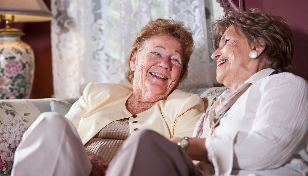 Elderly Laughing | Access Care Live-in Care Blog