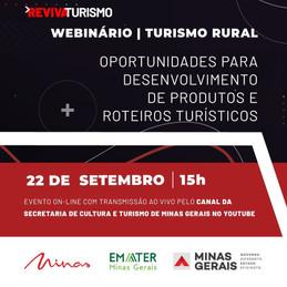 Webinário Turismo Rural: possibilidades e exemplos para o desenvolvimento de produtos e roteiros