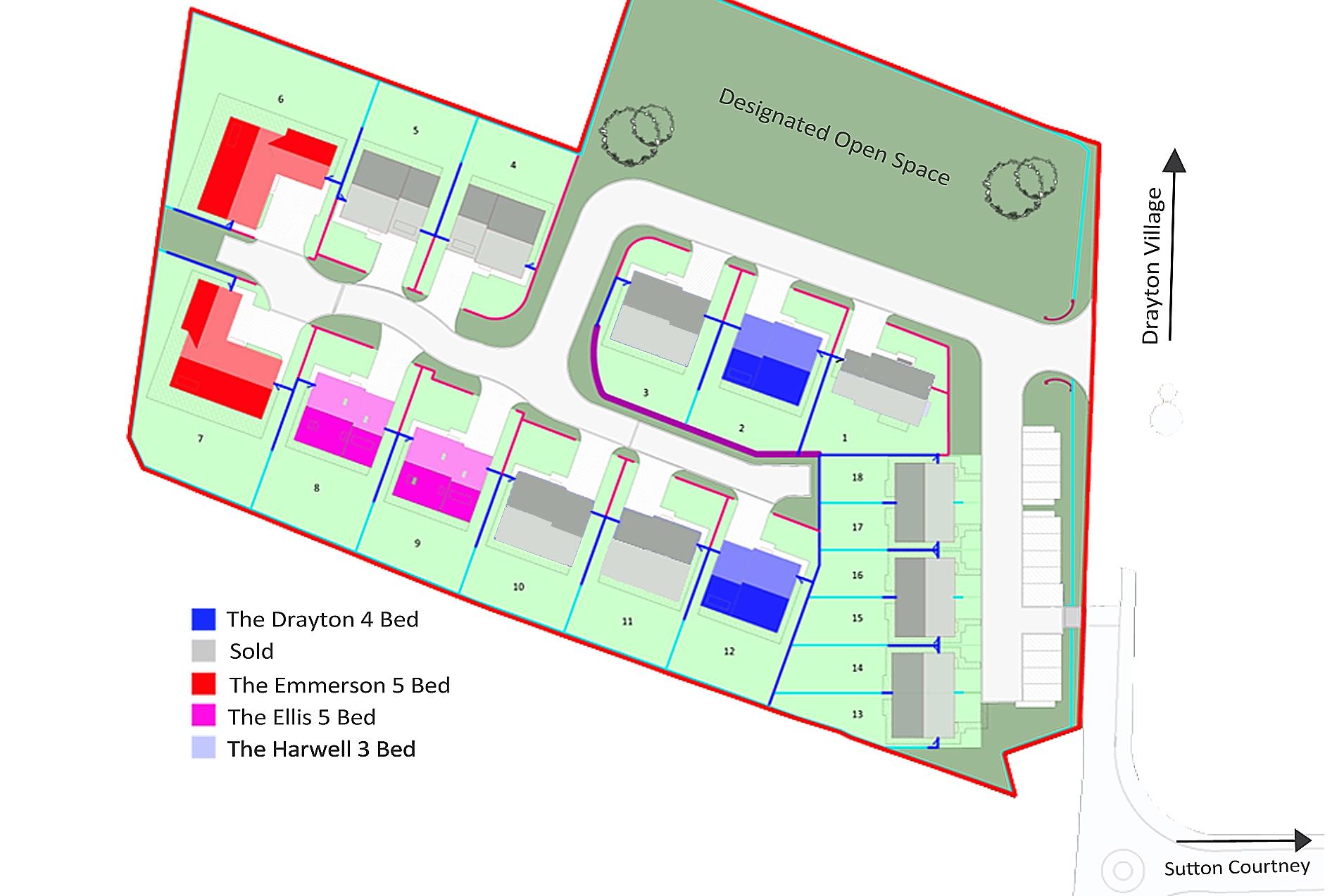 House type siteplan Milton