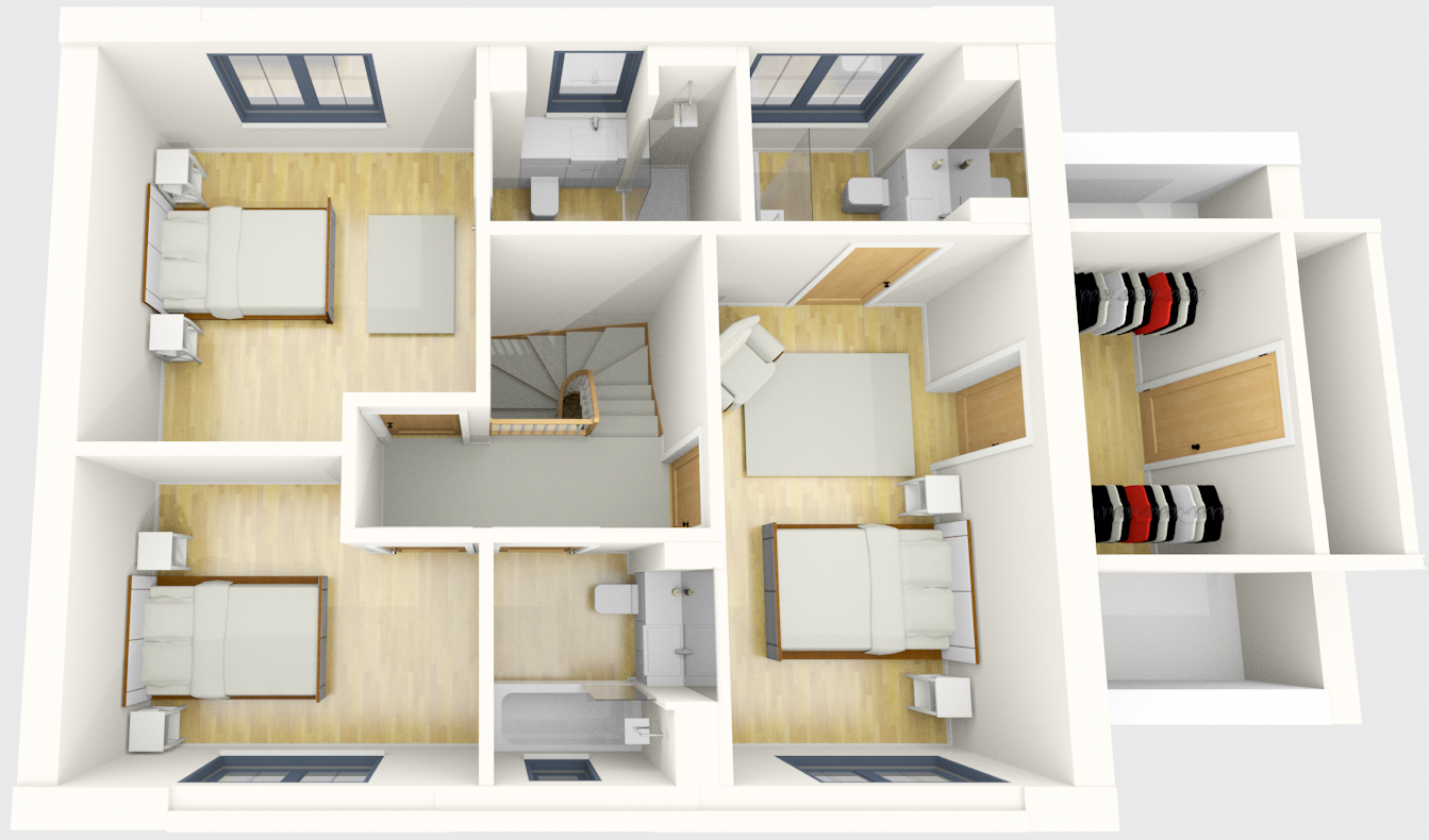 The Harwell first floor plan