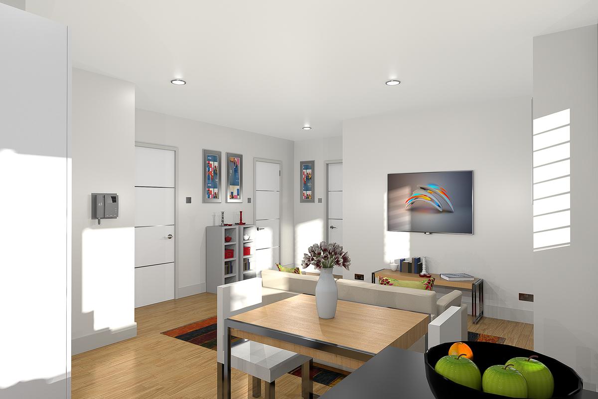 Open-Plan living/dining