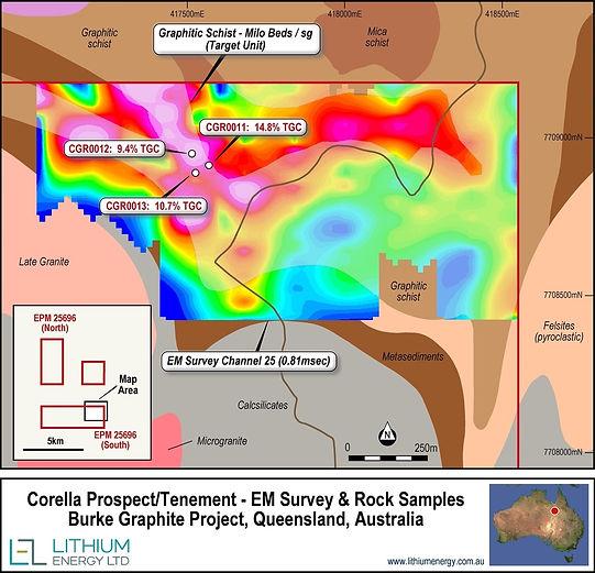 EM Survey - Corella Mining Tenement Burke Graphite Project