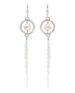 Circle of Life Pearl Earrings