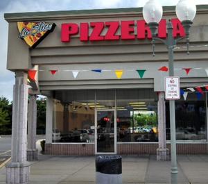 This is a photo of La Slice Pizzeria in Islandia, New York