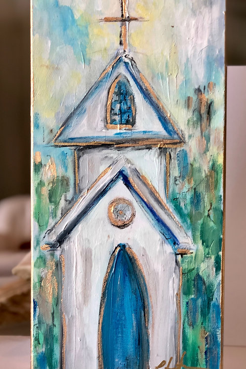 Church on canvas - 8x15