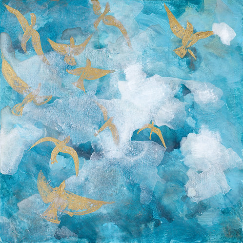 Beneath His Wings - 20x20 giclee on canvas