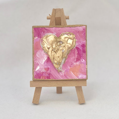 Heart mini canvas
