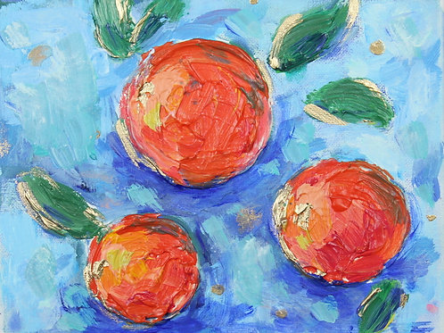 Florida Oranges - giclee on canvas