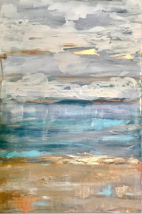 """Coastal Abstract 1"" - 24x36"
