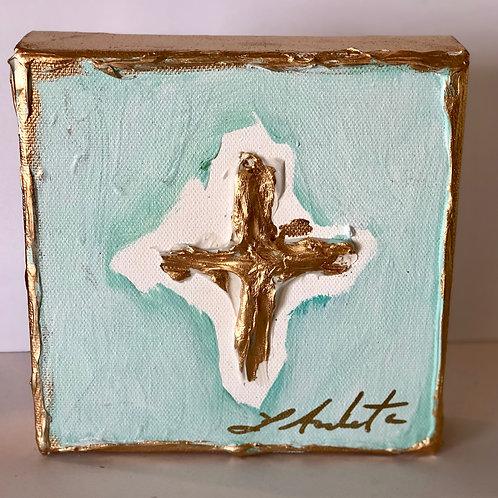 Cross on canvas - 5x5