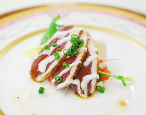 マグレ鴨胸肉のカルパッチョ