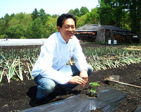 自家栽培の畑