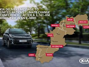 Kia realiza un viaje de 3.741 Km en un E-Niro con motivo de la conferencia de Cambio Climático de Na