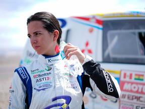 Cristina Gutiérrez, a cinco días de acabar su segundo Dakar