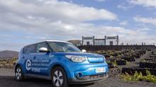 La II Vuelta a España en vehículo eléctrico, visita Lanzarote