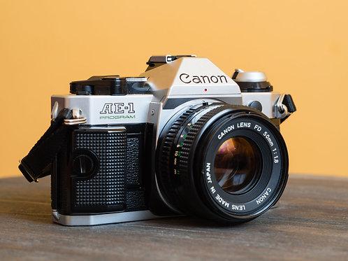 Canon AE1 Program w/ 50 1.8 lens and FILM