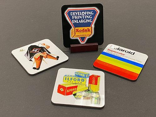 Vintage Film Coaster Set