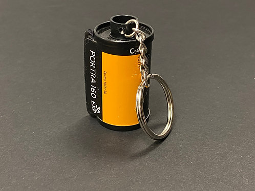 35mm film canister key chain