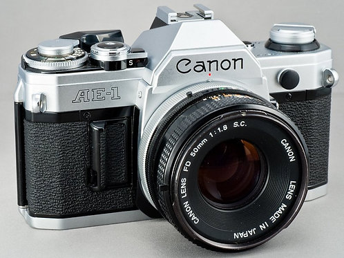 Canon AE1 w/ 50 1.8 lens and FILM