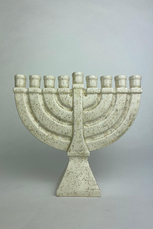 Ceramic Menorah Israel 1990
