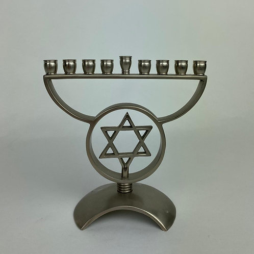 Silver-plated Menorah