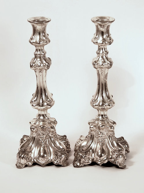 PAIR OF POLISH SABBATH CANDLE STICKS